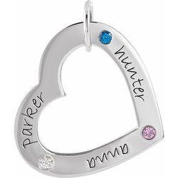 Posh Mommy® Engravable Medium Heart Pendant