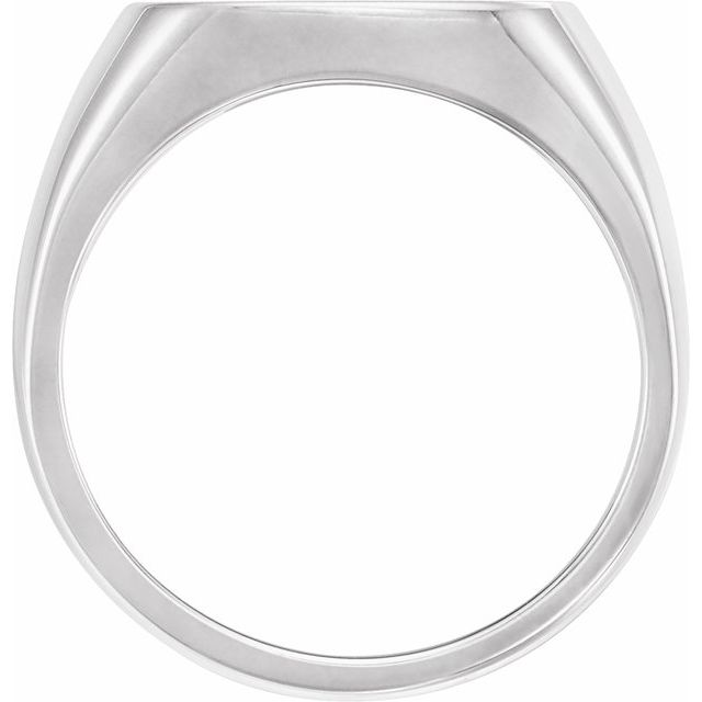 Sterling Silver 16 mm Square Signet Ring
