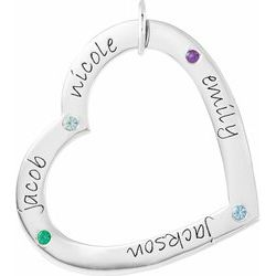 Posh Mommy® Engravable Large Heart Pendant