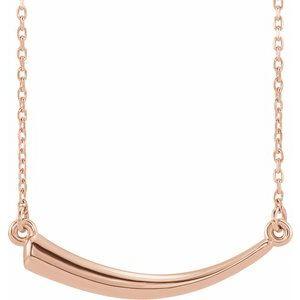 """14K Rose Horn 16-18"""" Necklace"""