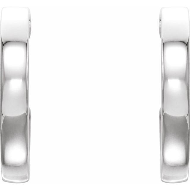 14K White & Yellow 16x2.6 mm Vintage-Inspired Hoop Earrings