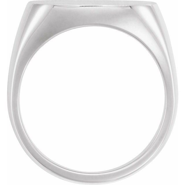Sterling Silver 12x12 mm Square Signet Ring