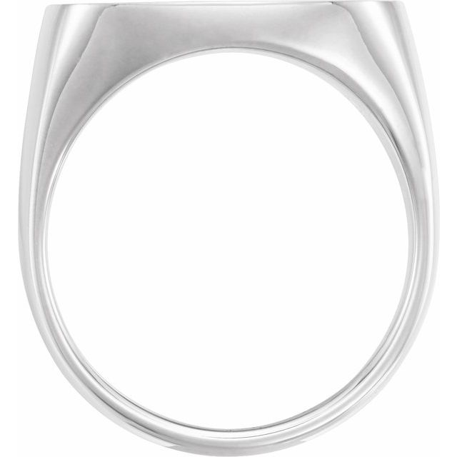 Sterling Silver 20x20 mm Square Signet Ring