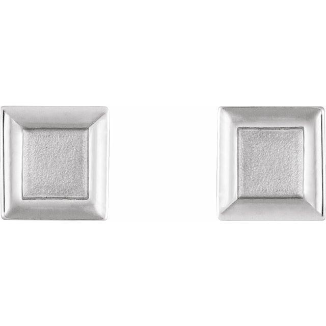 Sterling Silver Square Petite Earrings