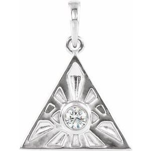 Sterling Silver 1/10 CTW Diamond Eye of Providence Pendant