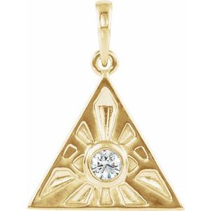 14K Yellow 1/10 CTW Diamond Eye of Providence Pendant