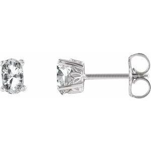 14K White Sapphire Earrings