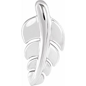 Sterling Silver 14.5x7.2 mm Leaf Pendant