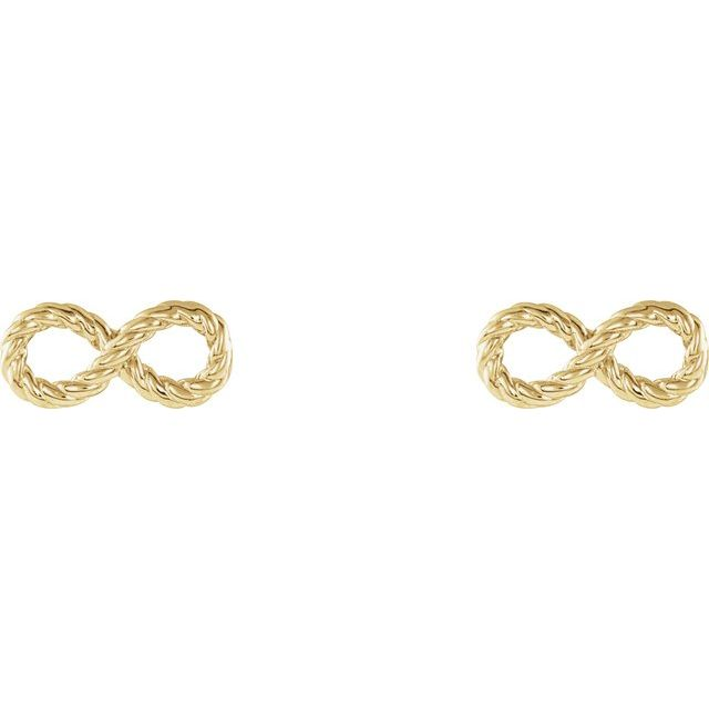 14K Yellow Infinity-Inspired Rope Earrings