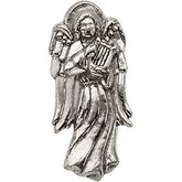 Angel with Harp Lapel Pin