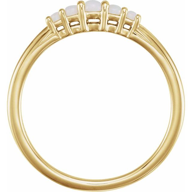 14K Yellow Opal Graduated Five-Stone Ring
