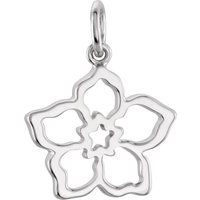 Sterling Silver 17.3x16.59 mm Forget Me Not Charm
