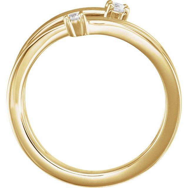 14K Yellow 1/8 CTW Diamond Bypass Ring