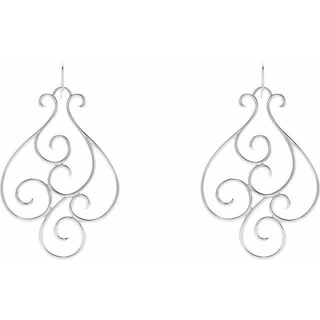 Sterling Silver Scroll Earring