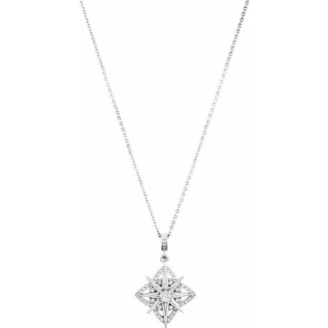 Sterling Silver 1/6 CTW Diamond Vintage-Inspired 18