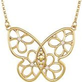 Accented Butterfly & Floral-Inspired Necklace or Center