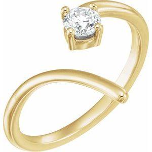 14K Yellow 1/4 CTW Diamond Negative Space Ring
