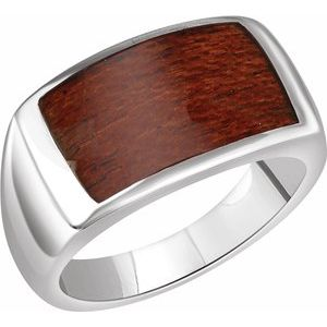 Sterling Silver Men-s Rectangle Ring