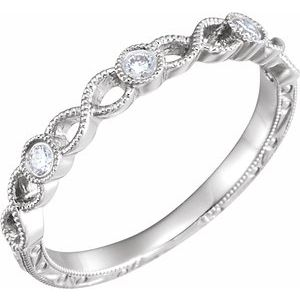 14K White 1/10 CTW Diamond Anniversary Band