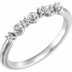 Three-Stone Pearl Ring