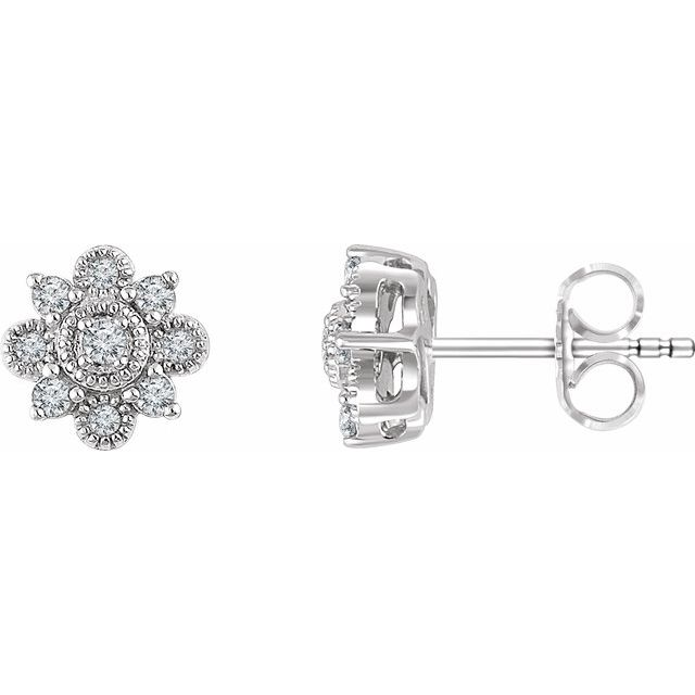 Vintage-Inspired Halo-Style Earrings