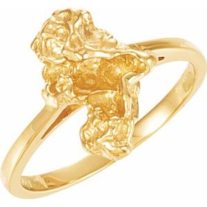 14K Yellow Nugget Ring