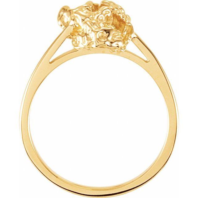 14K White Nugget Ring