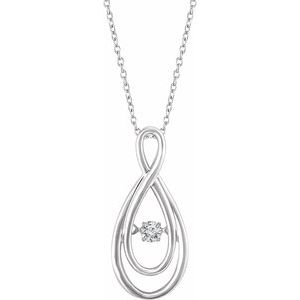 "14K White 1/10 CT Mystara Diamond® 18"" Necklace"