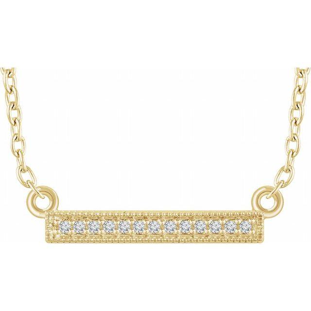 14K Yellow .05 CTW Diamond Bar 16-18