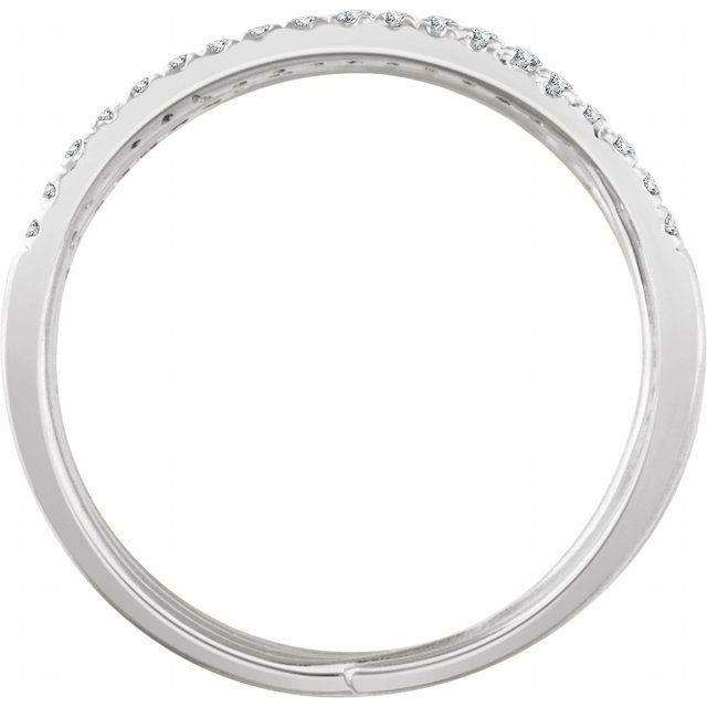 14K White 1/2 CTW Diamond Spiral Ring