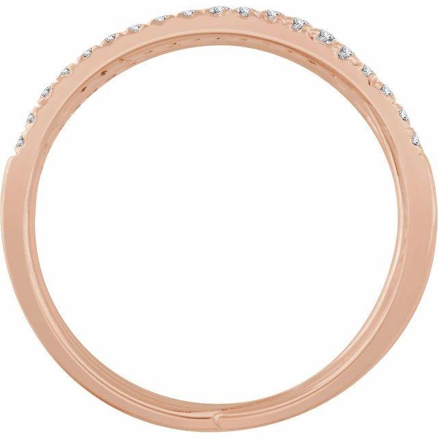 14K Rose 1/2 CTW Diamond Spiral Ring
