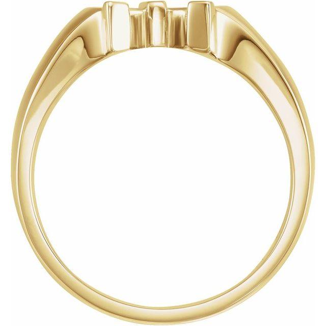 14K Yellow Men-s Horseshoe Ring