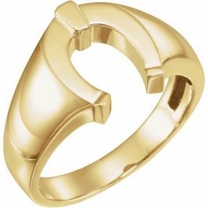 14K Yellow Men-s Horseshoe Ring