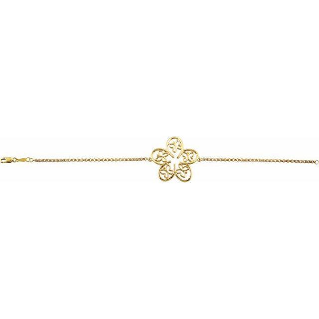 14K Yellow Flower & Butterfly 7 1/2