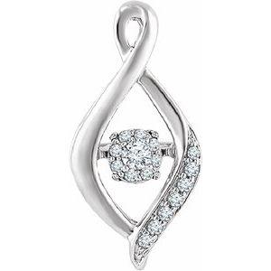 14K White 1/6 CTW Mystara Diamonds® Infinity-Inspired Pendant