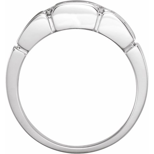 14K White 3/4 CTW Diamond Accented Men-s Ring