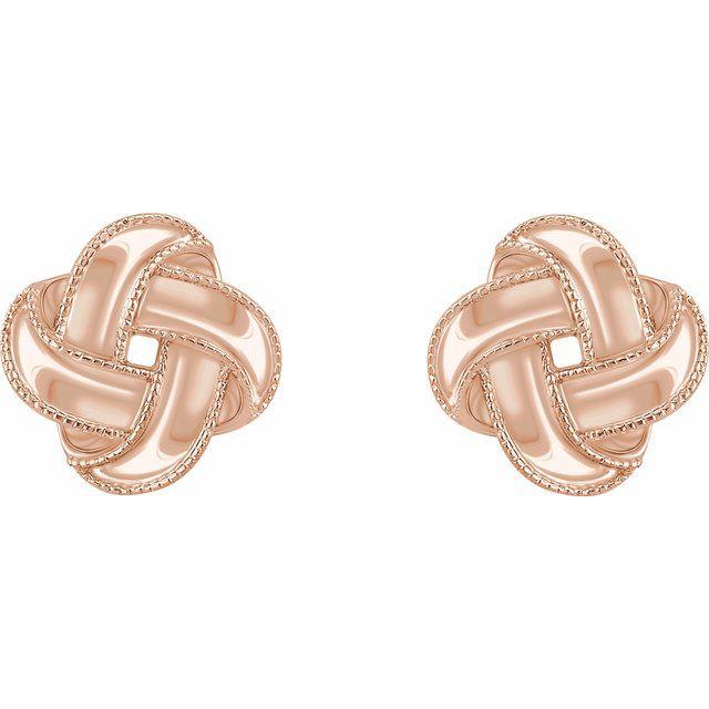 14K Rose Knot Earrings