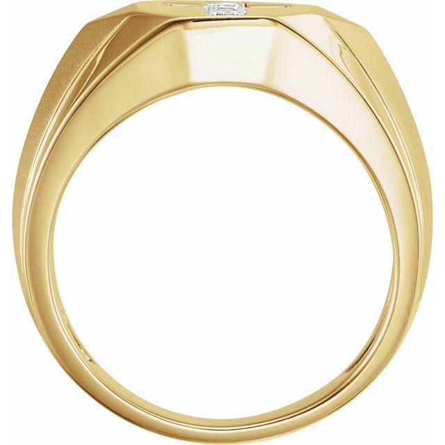14K Yellow 1/3 CTW Natural Diamond Cross Ring