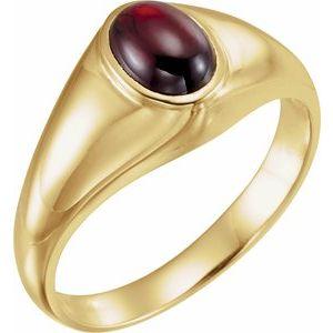 14K Yellow Mozambique Garnet Ring