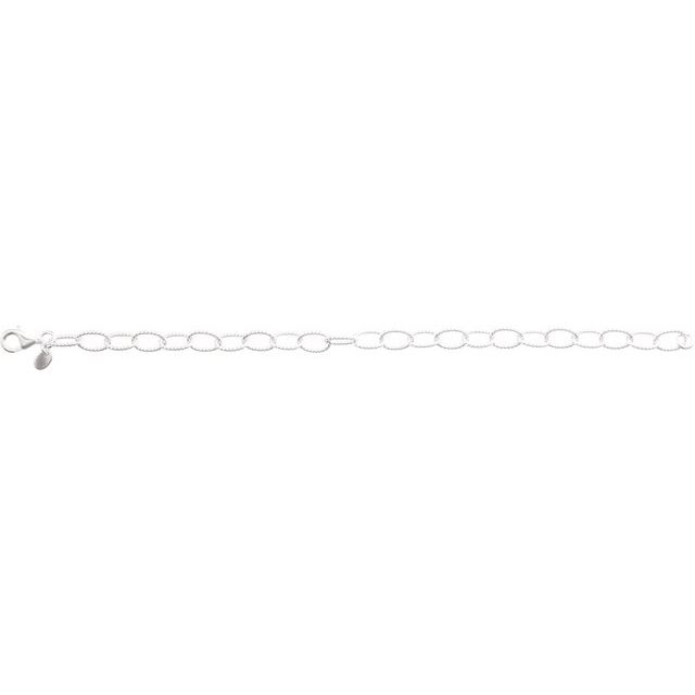 Sterling Silver 6 mm Knurled Cable 7