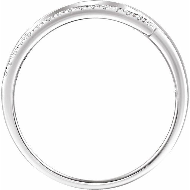 14K White 1/5 CTW Diamond Bypass Ring