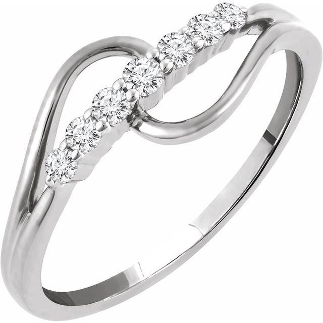 14K White 1/5 CTW Diamond Ring