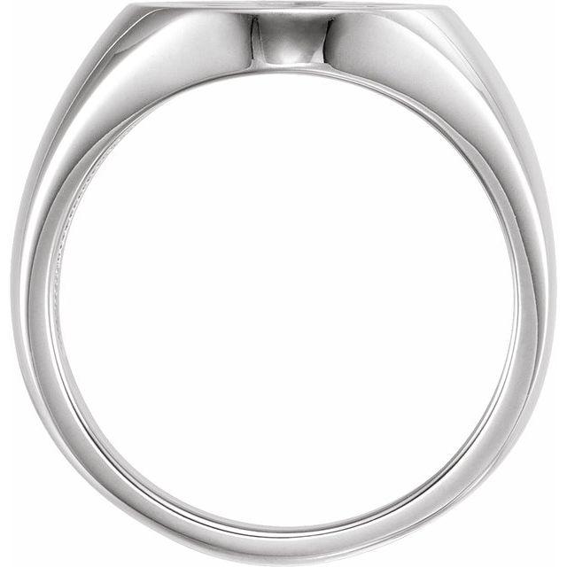 Sterling Silver 16x11 Oval Fleur-de-lis Signet Ring