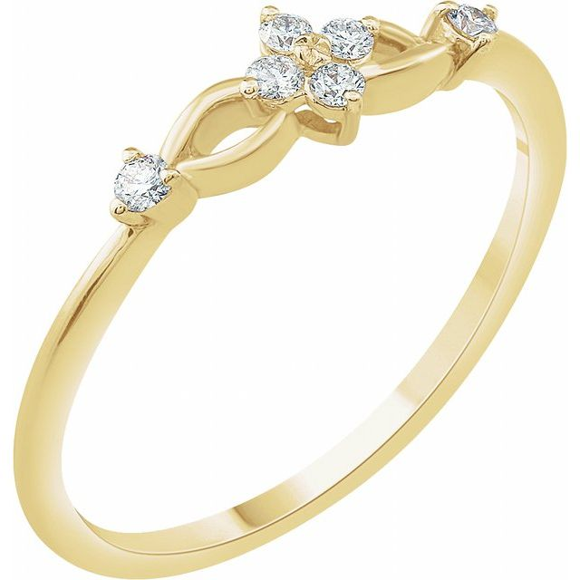 14K Yellow 1/10 CTW Diamond Promise Ring