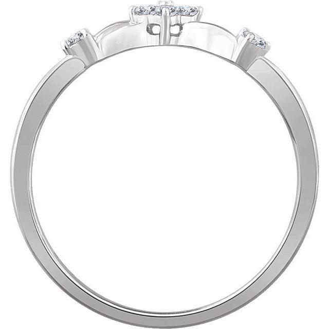 14K White 1/10 CTW Diamond Promise Ring