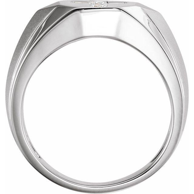 14K White 1/3 CTW Natural Diamond Men-s Ring