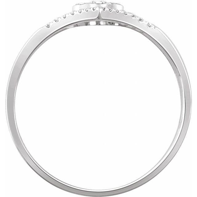 14K White 1/10 CTW Diamond