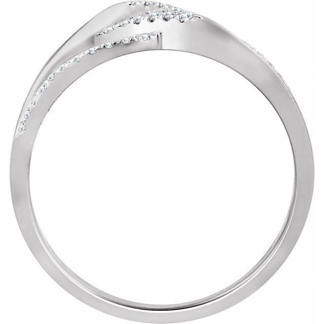 10K White 1/6 CTW Diamond Negative Space Ring
