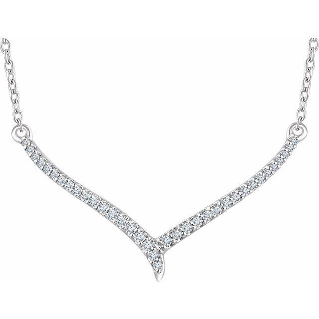 14K White 1/6 CTW Diamond