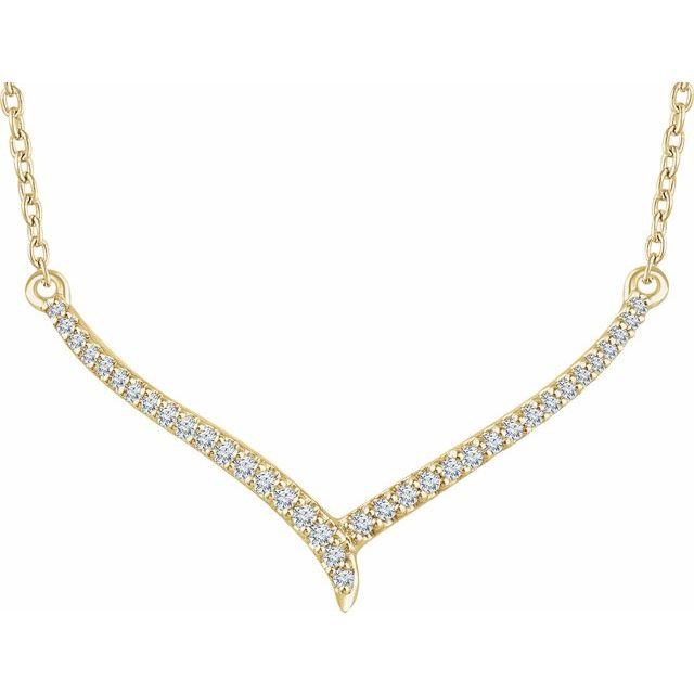 14K Yellow 1/6 CTW Diamond